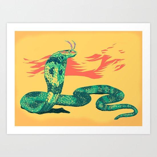 High on Venom Art Print