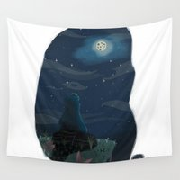cookie Wall Tapestries featuring Cookie monster by David Pavon