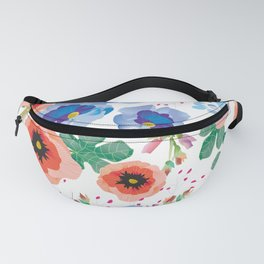 The Colors of Spring Floral Fanny Pack