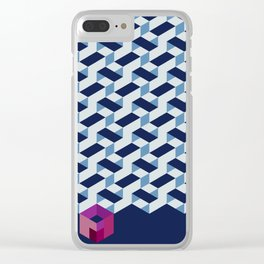 Modernist Weave Clear iPhone Case