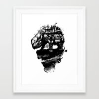 discworld Framed Art Prints featuring the island by Steven Toang