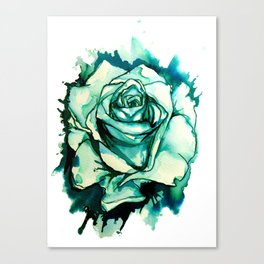 Inky Rose Canvas Print