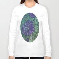 potato Long Sleeve T-shirts featuring Percolated Purple Potato Flower by Charma Rose