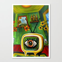 TeleVizion....The EYE is watching you thru the tube Canvas Print