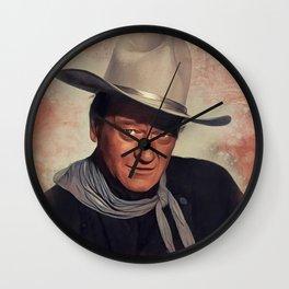 John Wayne, Actor Wall Clock