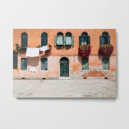 Old house in Murano island Metal Print