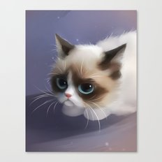 little grumpy things Canvas Print