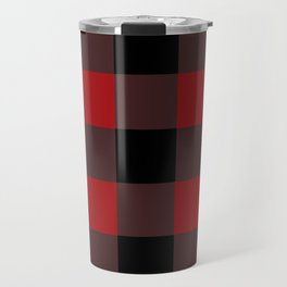 Red Buffalo Plaid Travel Mug