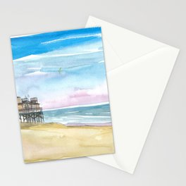Outer Banks House At the Sea Stationery Cards