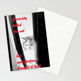Curiosity & the Cat Stationery Cards