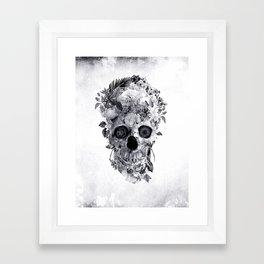 Skull BW Framed Art Print