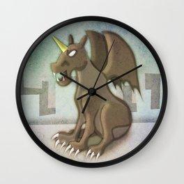Gargoyle Unicorn Wall Clock