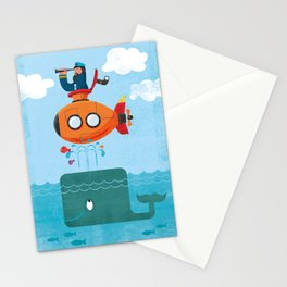 Whale Ahoy Stationery Cards