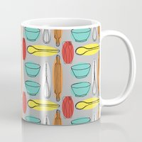 baking Mugs featuring Baking Pattern by Britt Clifton