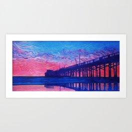 Fire Beyond the Pier Art Print