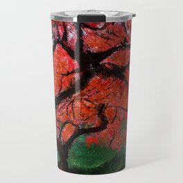 Japanese Maple Tree Acrylics On Canvas Board Travel Mug