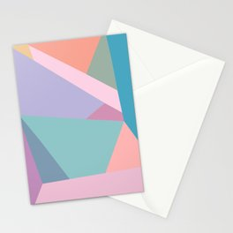 Fractured Triangles in Playful Color Stationery Cards