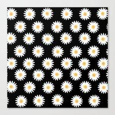 Daisy black pattern Canvas Print