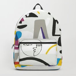 Abstract Portrait - 1 Backpack