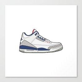 Jordan 3 True Blue Canvas Print