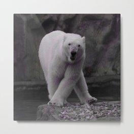 Cute dancing polarbear Metal Print