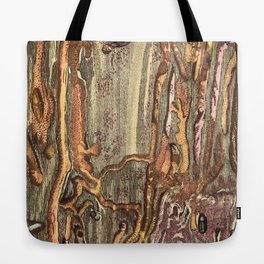 Worm Eaten Wood Tote Bag
