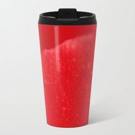 Red Flower Petal - Macro - Fine art Print, interior decoration, interior design, high quality photo Travel Mug