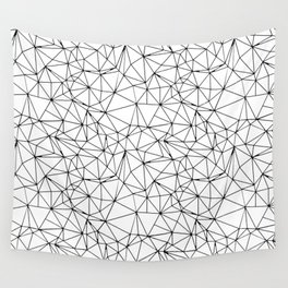 Mosaic Triangles Repeat Seamless Pattern Black and White Wall Tapestry