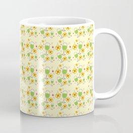 Frangipani flowers and cocktails pattern Coffee Mug
