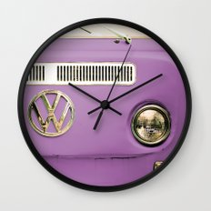 Summer of Love - Radiant Orchid Wall Clock