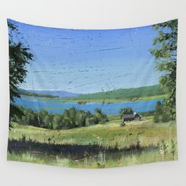 cabin - by phil art guy Wall Tapestry