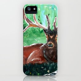 """Deer - Animal - """"Time to relax"""" - by LiliFlore iPhone Case"""