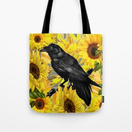 CROW & YELLOW SUNFLOWERS FIELDS Tote Bag