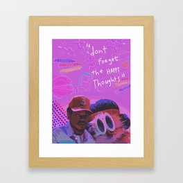 Chance the Rapper (Don't Forget The Happy Thoughts) Framed Art Print