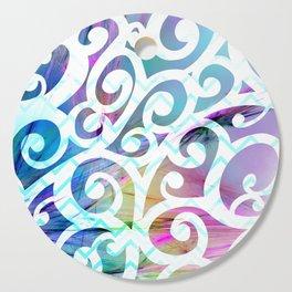 Watercolor Fiber Swirls Cutting Board