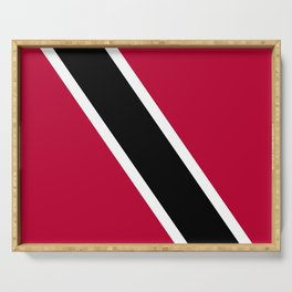 Trinidad and Tobago flag emblem Serving Tray