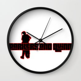 Parkers and Quinn Logo (Scorpius Edition) Wall Clock