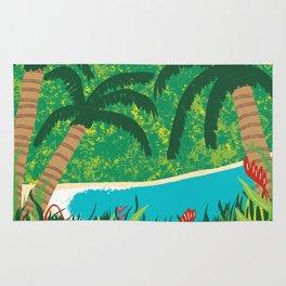 Tropical Island Getaway Rug