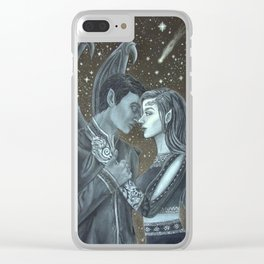 Feyre and Rhysand Clear iPhone Case