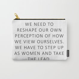 Queen Bey Quote - Take the lead Carry-All Pouch