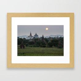 Bagan Sunset Framed Art Print