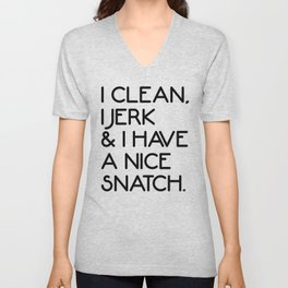 Nice Snatch Funny Gym Quote Unisex V-Neck