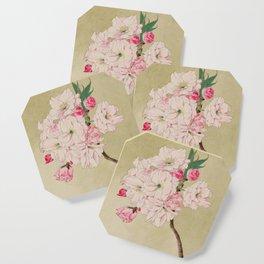 Fukurokuju - God of Longevity Cherry Blossoms Coaster