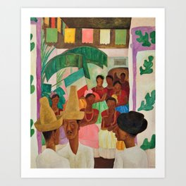 The Rivals of Chapingo by Diego Rivera Art Print