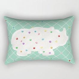 Circus Animal Cookie- Rhino Rectangular Pillow