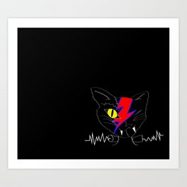 FRANKEN VAMP BOWIE KITTY Art Print