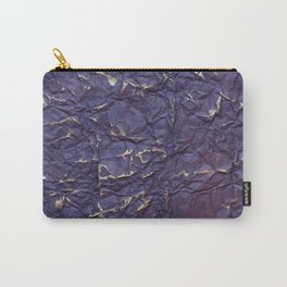 Antique shabby vintage purple creased paper Carry-All Pouch
