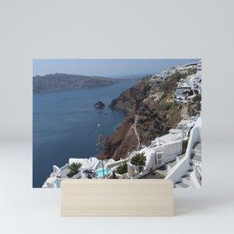 Caldera and Santorini View Mini Art Print