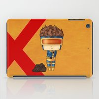 cyclops iPad Cases featuring Chibi Cyclops by artwaste
