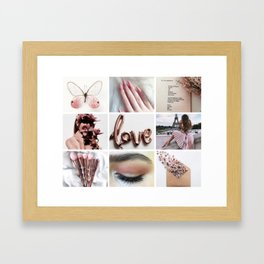 Pale Rose Gold Moodboard Framed Art Print